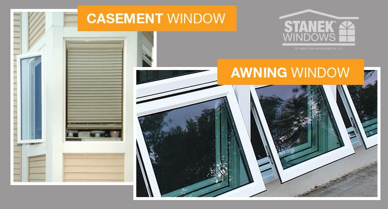 awning vs casement windows whats the difference