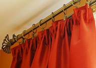 hanging curtain rods