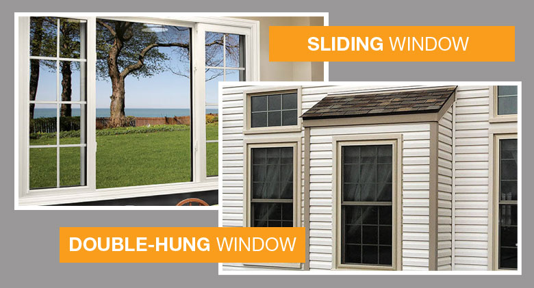 Double-Hung Window and Sliding Window