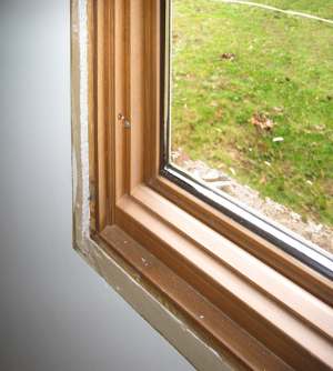 Existing wood window with a rabbeted jamb