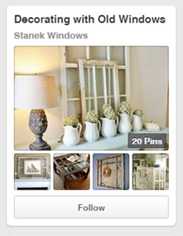 Get ideas on how to decorate with old windows.