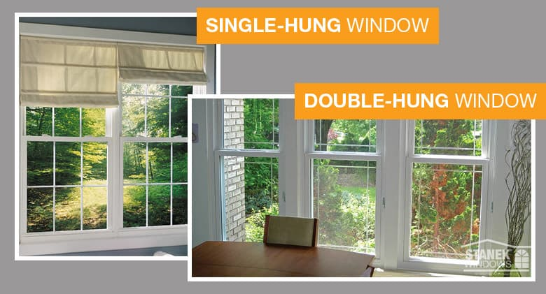 Single hung vs double hung windows for Window treatments for double hung windows