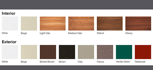 exterior window color options