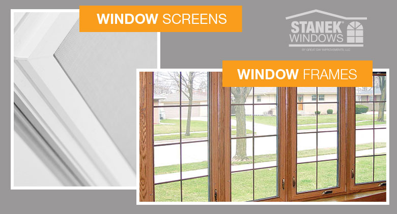 Window Screens and Window Frames