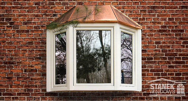 Bay window photo gallery vinyl replacement windows stanek for Colonial window designs