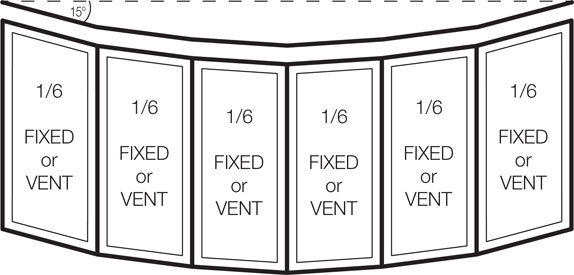 Bay Windows Sizes : Vinyl bow and bay window sizes configurations stanek
