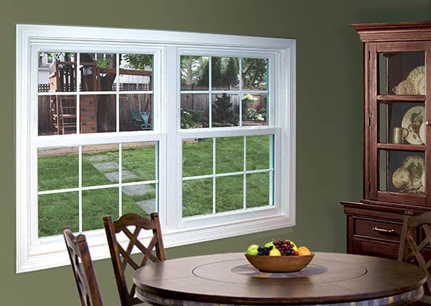 Stanek double hung windows vinyl replacement windows for Window treatments for double hung windows