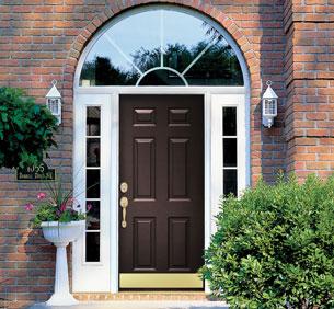 Steel fiberglass entry doors provia entry doors for Front entry doors with storm door