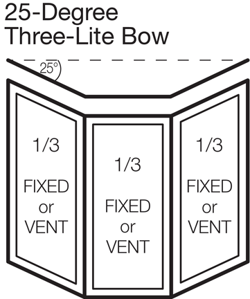 25-degree Three-lite Bow (33/33/33)