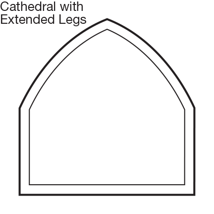 Custom Shape Cathedral Window with Ext Legs
