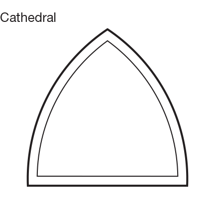 Custom Shape Cathedral Window