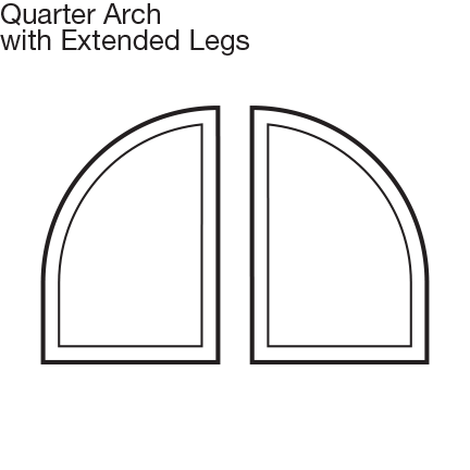 Custom Shape Quarter Arch Window