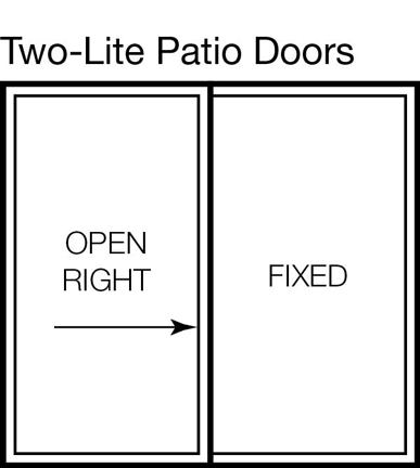 Two-Lite Patio Door. u201c  sc 1 st  Stanek Windows & Types of Patio Doors - Locking And Sliding Glass Doors - ~