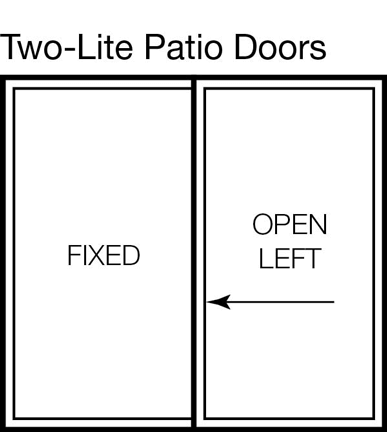 Two-lite Patio Door