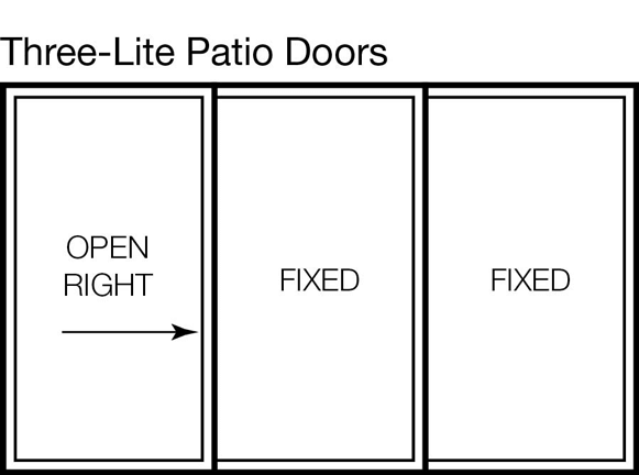Three-lite Patio Door