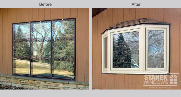 Milwaukee bay window replacement stanek bay windows for Energy efficient bay windows