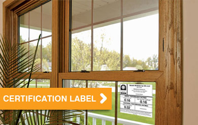Stanek Window with Certification Label