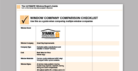 Window Buyer's Checklist